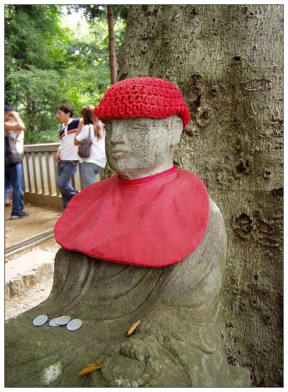 Buddhistische Statue im Gedenken an die Kinder