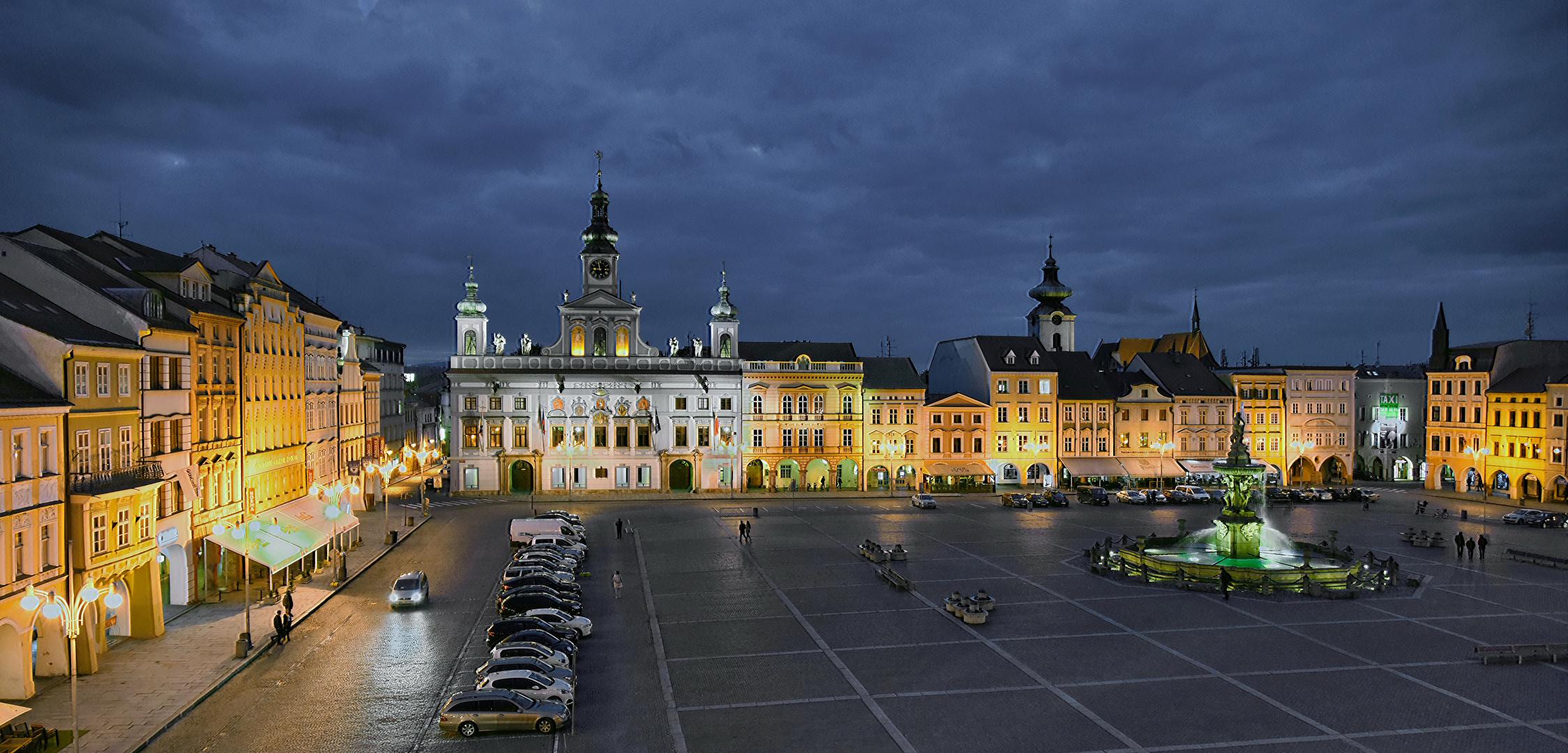 Budweis  - historischer Marktplatz -