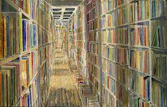 """"""" Bücherbild """" ( diesmal ohne Leiter )"""