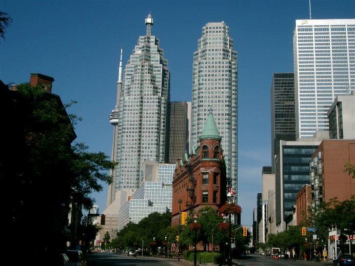 Bügeleise in der Innenstadt von Toronto