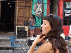 Buenes Aires Altstadt, Kunst auf der Straße, Tango liegt in der Luft