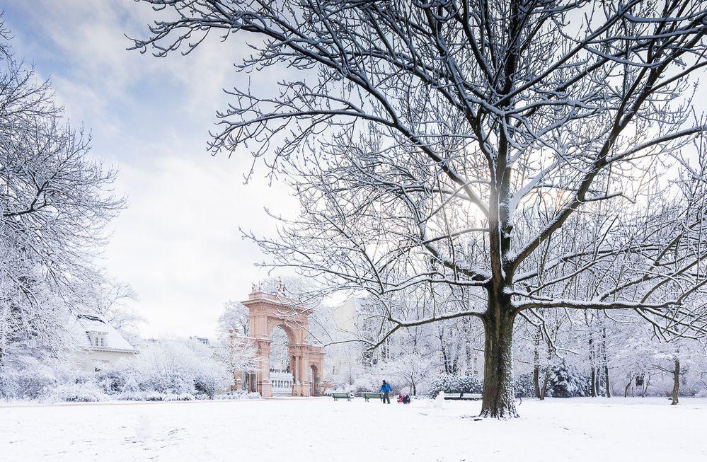Bürgerpark Pankow im Winter