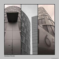 Bürotower in Münster Collage