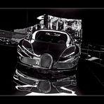 Bugatti in Schwarz/Weiss