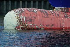 Bugspitze eines Containerschiffs