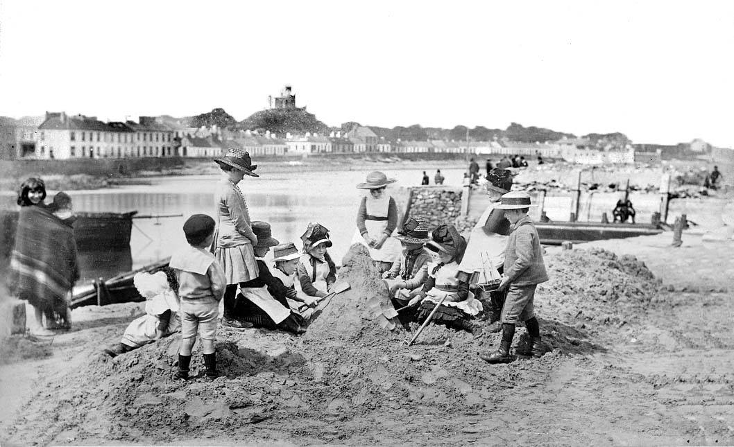 Building Sandcastles at Donaghadee, Co Down