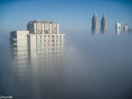 Buildings above Clouds 2