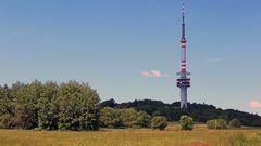 Bukova hora der bekannte Sendeturm an der Labe (Elbe) in Böhmen...