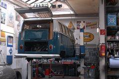 Bulli wird repariert (Baujahr 1966)