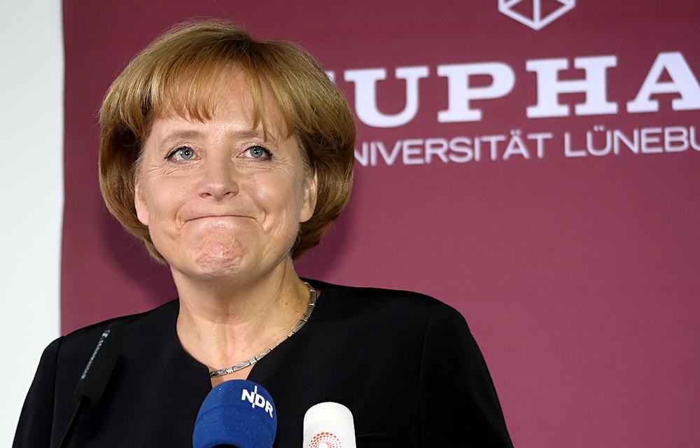 Bundeskanzlerin Angela Merkel in Lüneburg