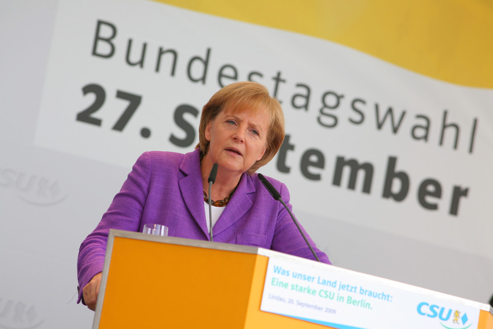 Bundeskanzlerin Dr. Angela Merkel am 20. September 2009 zu Gast in Lindau am Bodensee