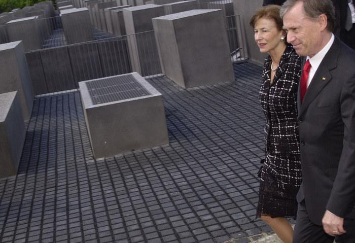 Bundespräsident Horst Köhler mit Frau