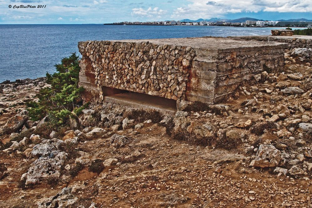 Bunker aus dem spanischen Bürgerkrieg 1936-39 bei Sa Coma