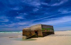 Bunkeranlage, Plage de Kermabec, Bretagne, France