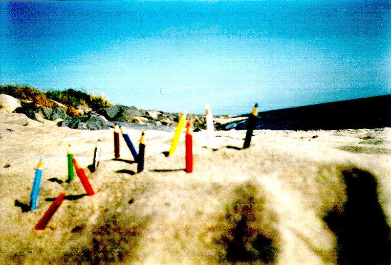 Bunt am Strand
