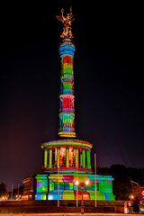 Bunt leuchtendes Nationaldenkmal