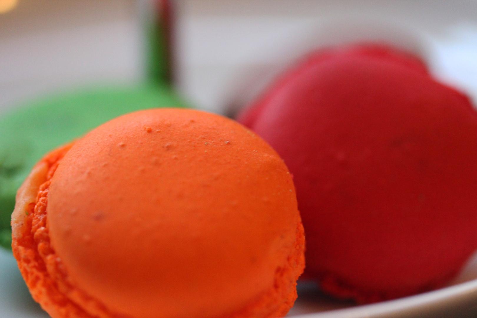 bunte, französische Macarons