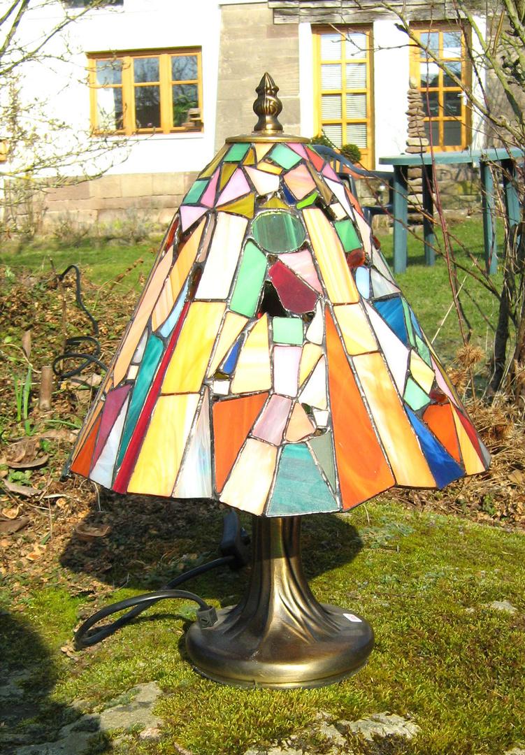 bunte tiffanylampe