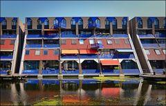 bunte Wohnblocks in Rotterdam