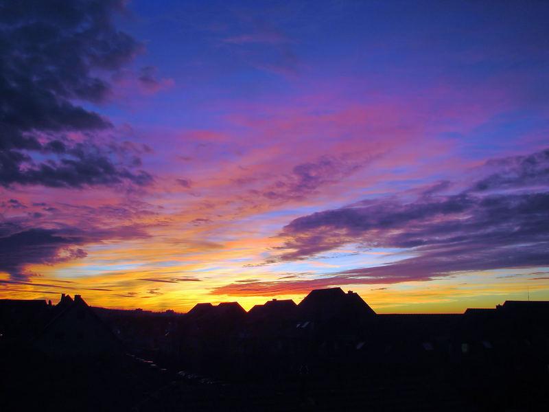Bunter Abendhimmel
