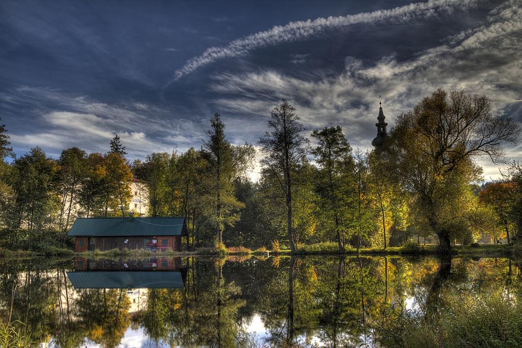 Bunter Schlägler Teich