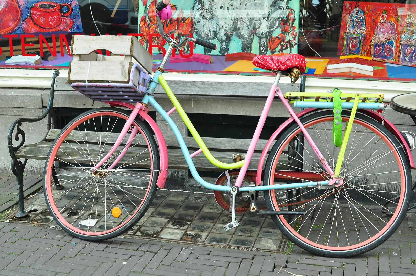 buntes fahrrad