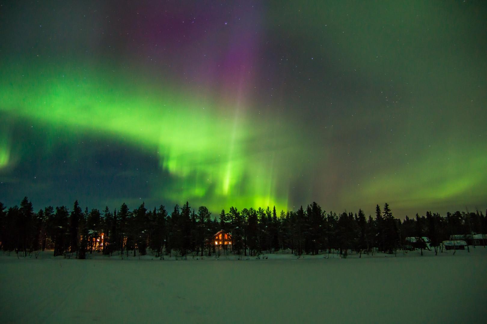 buntes Polarlicht