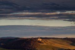 Burg Abendlicht
