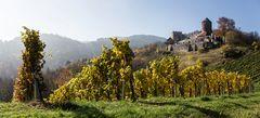 Burg Deutschlandsberg im morgendlichen Herbstgewand!