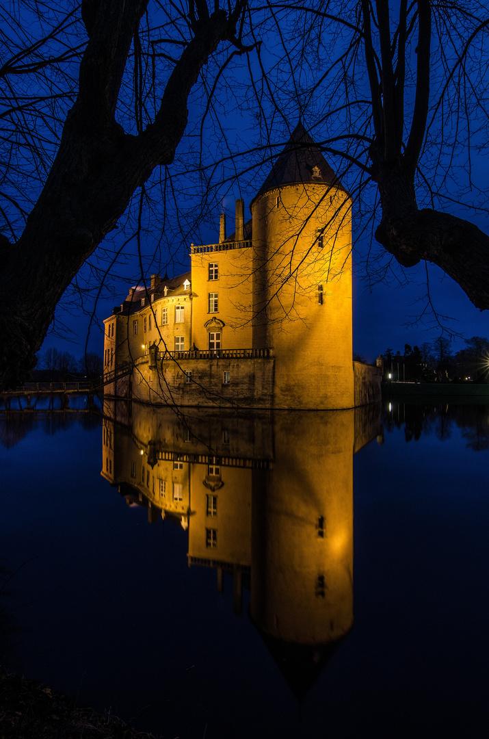 Burg Gemen zur blauen Stunde 2