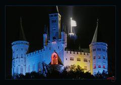 Burg Hohenzollern in blau