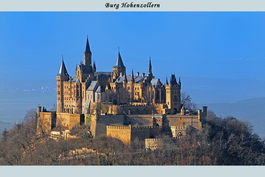 Burg Hohenzollern in der Abendsonne