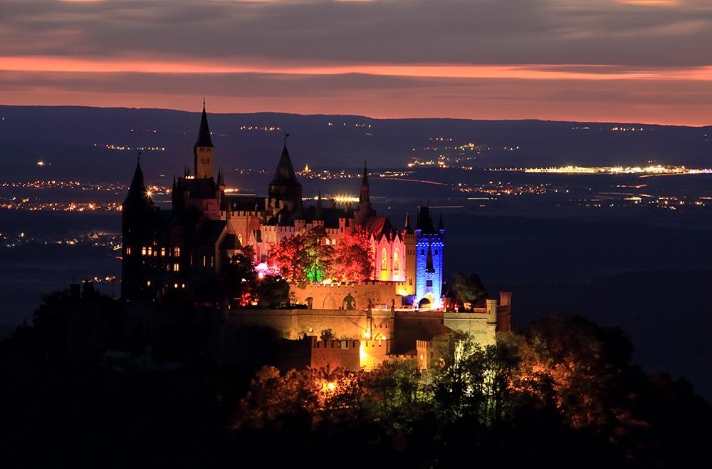 Burg Hohenzollern Sternschnuppen Nacht 2018 Foto Bild