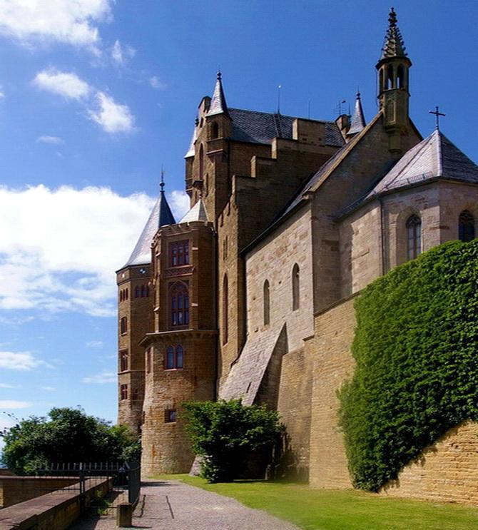 Burg Hohenzollern, Südseite