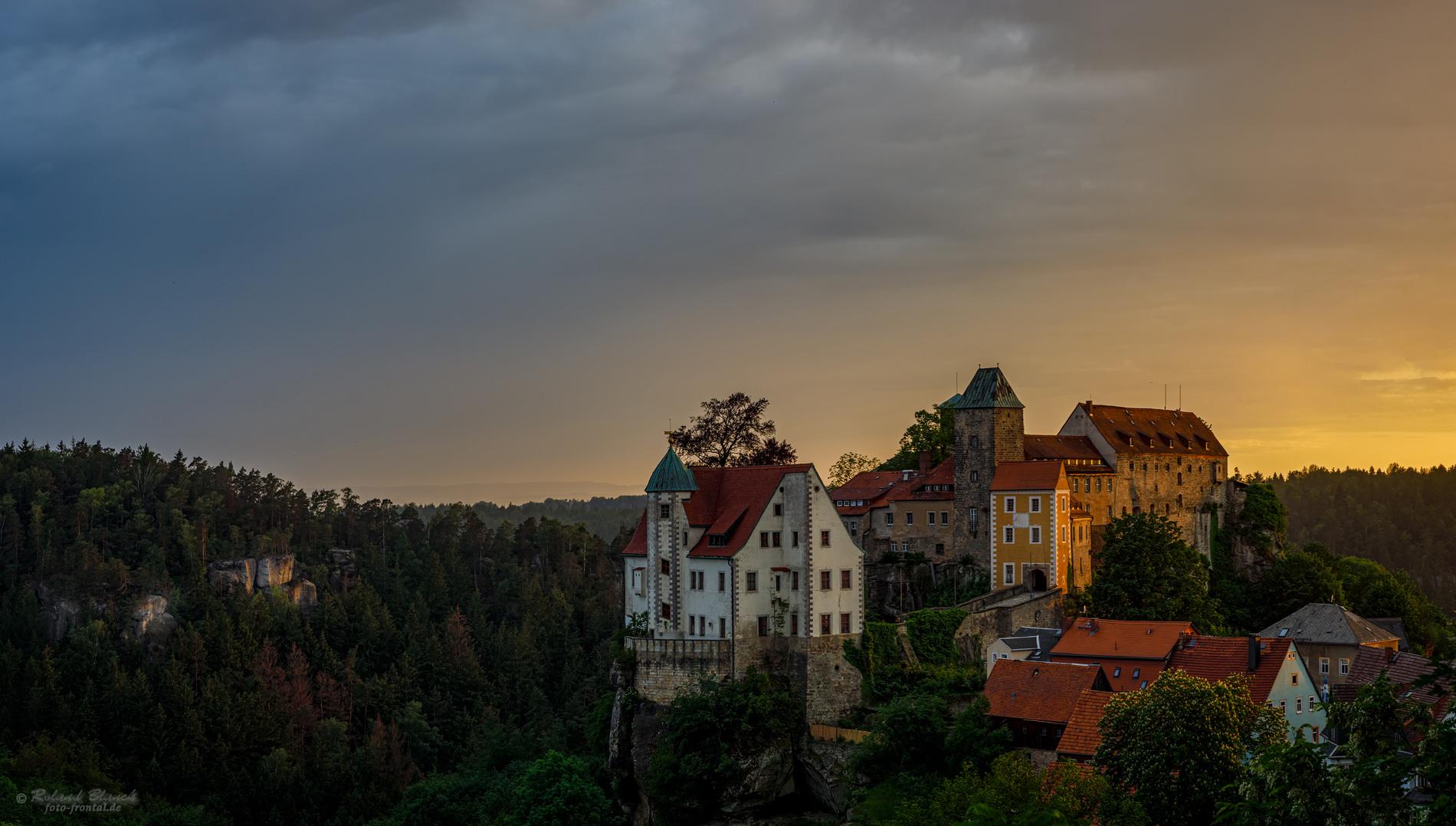 Burg Hohnstein im Abendlicht