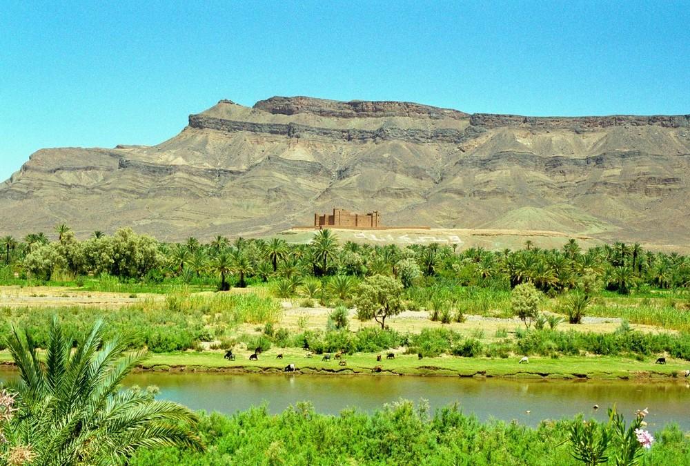 Burg im Antiatlas von Marokko