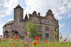 Burg im Mohn