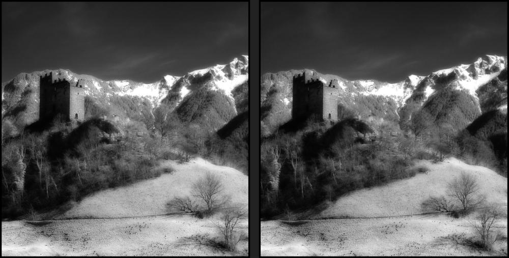 Burg Infrarot 3D