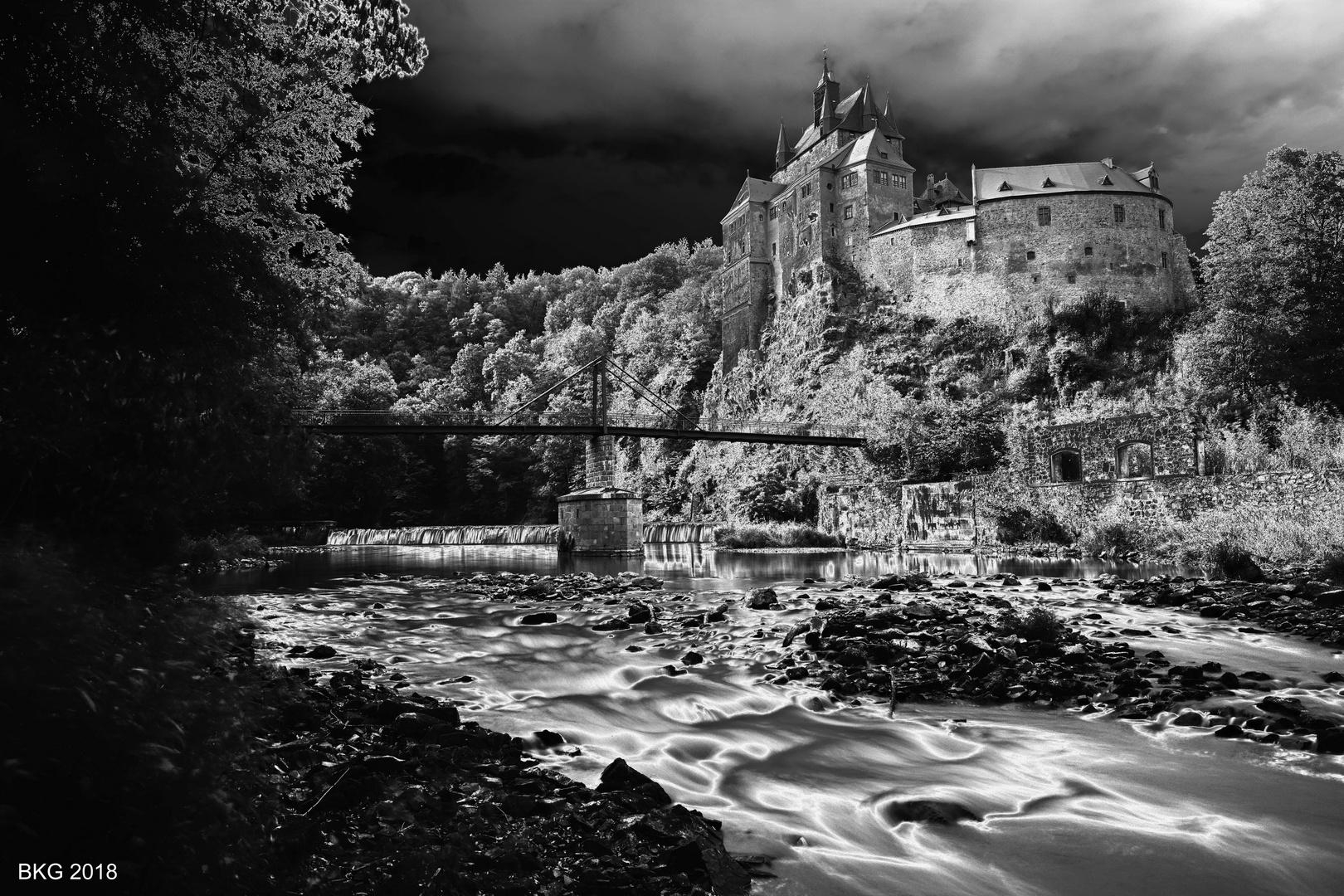 Burg Kriebstein im Infrarot