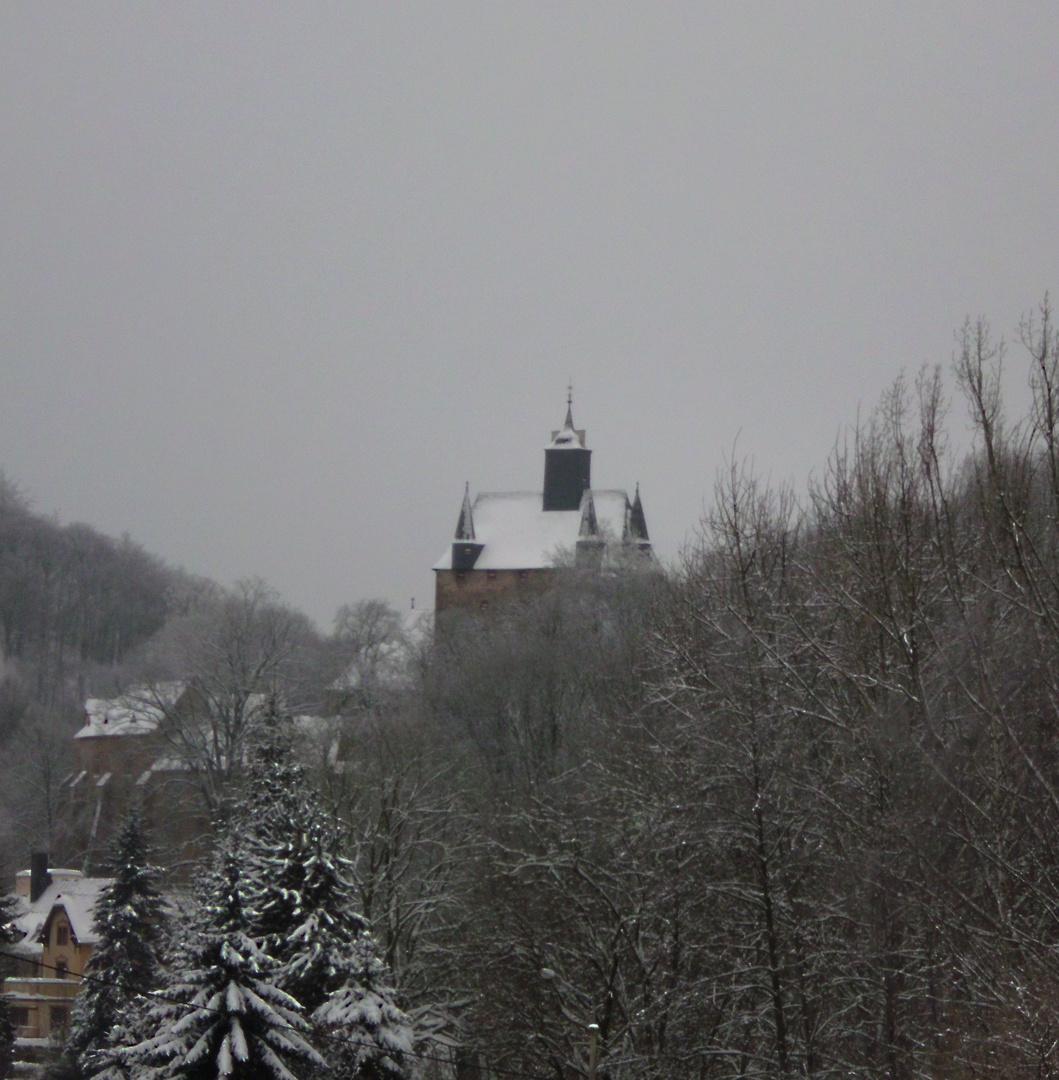 Burg Kriebstein im Winterkleid