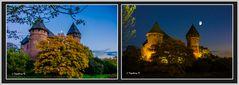 Burg Linn in Krefeld - Abenddämmerung und blaue Stunde