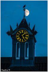 Burg Linn in Krefeld - Sonnenuntergang um 17,07 Uhr