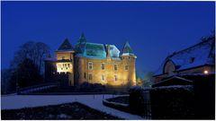 Burg Linn ist in Schnee