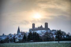 Burg Münzenberg im Winter