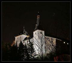 Burg Mylau bei Nacht