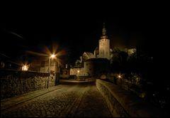 Burg Querfurt bei Nacht