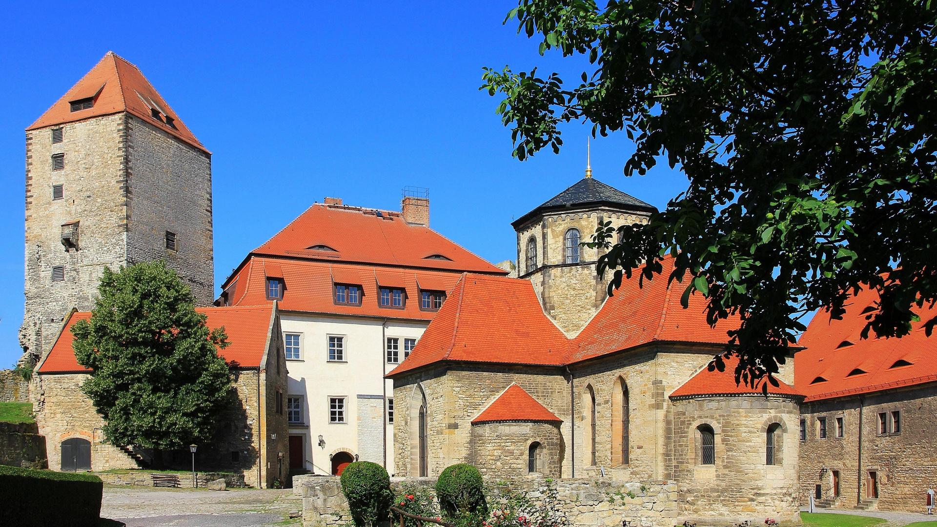 Querfurt Weihnachtsmarkt.Burg Querfurt Detailansicht Foto Bild World