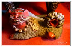 Burg Satzvey - chinesischer Löwe -