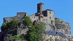 Burg Schreckenstein  ( Strekov) an der Labe bei Usti nad Labem...
