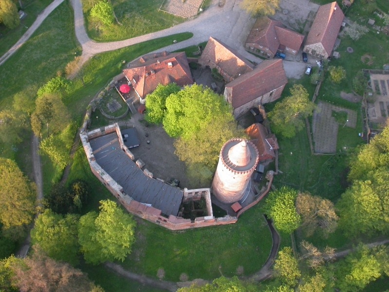 Burg Stargard von oben